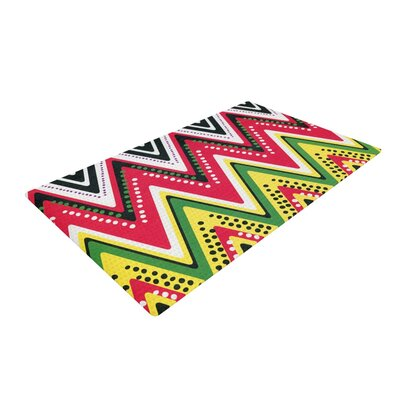 Heidi Jennings Jamaican Me Crazy Yellow/Red Area Rug Rug Size: 2 x 3
