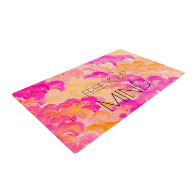 Ebi Emporium Free Your Mind Pink/Orange Area Rug Rug Size: 2 x 3