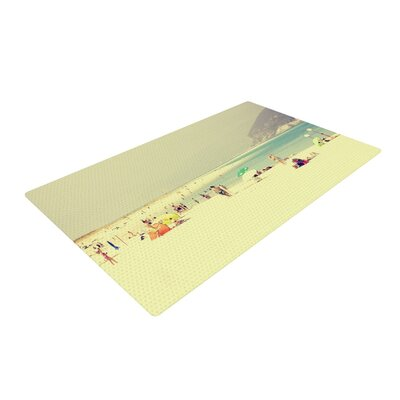 Ingrid Beddoes Lazy Days Summer Beach Yellow Area Rug Rug Size: 4 x 6