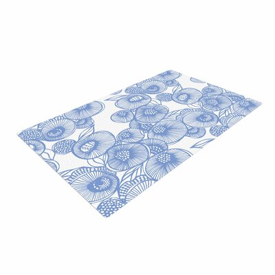 Gill Eggleston Fenella Floral Blue/White Area Rug Rug Size: 2 x 3
