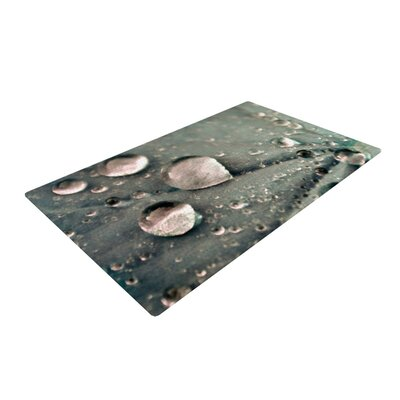Iris Lehnhardt Water Droplets Dark/Gray Area Rug