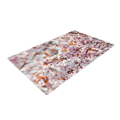 Iris Lehnhardt Flowering Plum Tree Blossoms Pink Area Rug Rug Size: 2 x 3