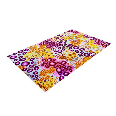 Ebi Emporium Circular Persuasion Yellow/Pink/Purple Area Rug