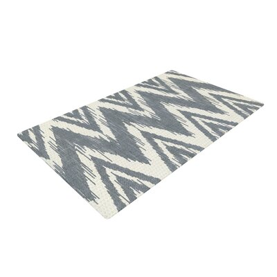Heidi Jennings Tribal Chevron Gray Area Rug