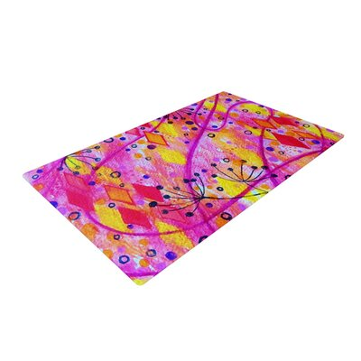 Ebi Emporium into the Fall 2 Pink/Yellow Area Rug Rug Size: 2 x 3