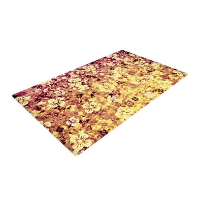 Ebi Emporium Flower Power in Glitter Orange/Yellow Area Rug