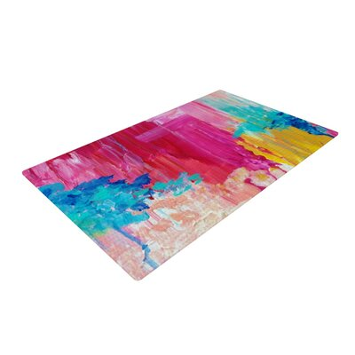 Ebi Emporium Elated Paint Pink/Blue Area Rug Rug Size: 2 x 3