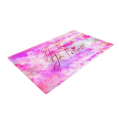 Ebi Emporium Je Taime II Abstract Pink Area Rug Rug Size: 2 x 3