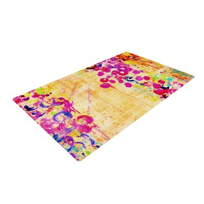 Ebi Emporium Wall Flowers Yellow/Pink Area Rug