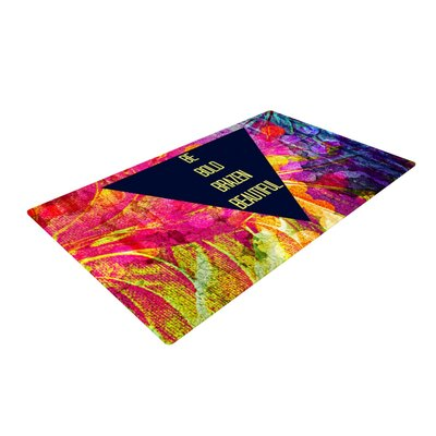 Ebi Emporium Be Bold Brazen Beautiful Rainbow Pink Area Rug