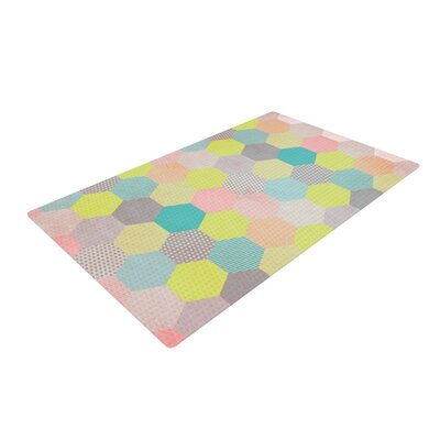 Louise Machado Hexagon Geometric Pink/Yellow Area Rug Rug Size: 4 x 6