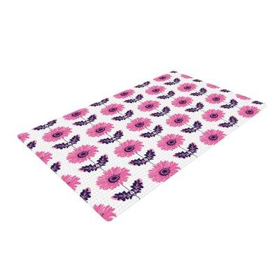 Laura Escalante Gerbera Flower Pink/Purple Area Rug Rug Size: 2 x 3