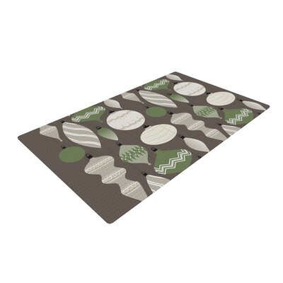Mixed Ornaments Green/Gray/Brown Area Rug Rug Size: Rectangle 4 x 6
