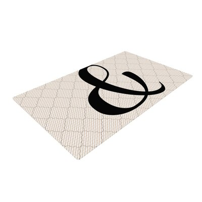 Amperstamp Black/White Area Rug