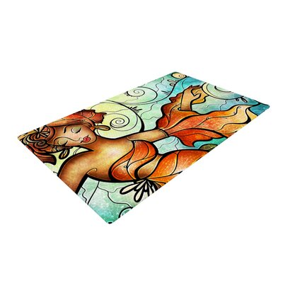 Mandie Manzano Cubana Dancing Blue/Orange Area Rug Rug Size: 2 x 3