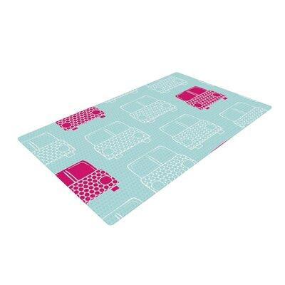 Michelle Drew Beep Beep Magenta/Aqua Area Rug Rug Size: 2 x 3