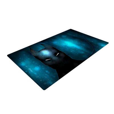 Mandie Manzano Dark Knight Dark/Blue Area Rug Rug Size: Rectangle 4 x 6