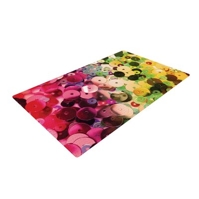 Louise Machado Spots Sparkle Pink/Yellow Area Rug Rug Size: 4 x 6