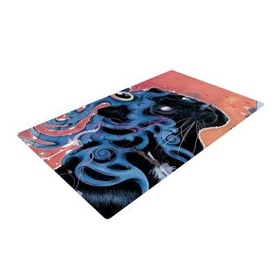 Mat Miller Farseer Black/Blue Area Rug Rug Size: 4 x 6
