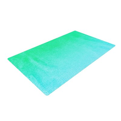 Monika Strigel Hawaiian Aqua/Green Area Rug Rug Size: 4 x 6