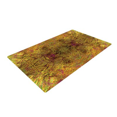 Nikposium Goldenrod Gold/Yellow Area Rug Rug Size: 4 x 6