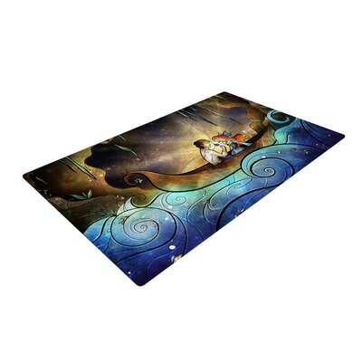 Mandie Manzano Something About Her Mermaid Blue/Purple Area Rug Rug Size: 4 x 6