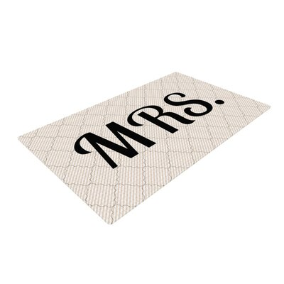 Mrs. Black/White Area Rug