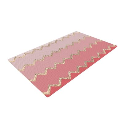 Monika Strigel Avalon Chevron Pink/Coral Area Rug Rug Size: 4 x 6