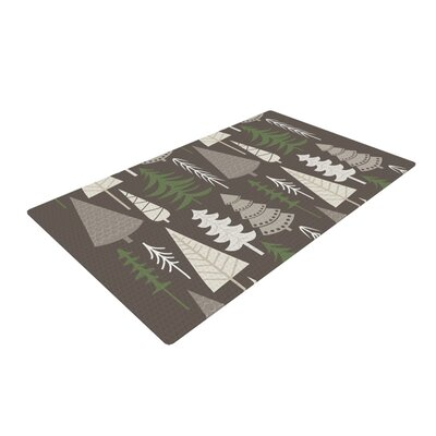 Happy Forest Green/Brown Area Rug Rug Size: 2 x 3