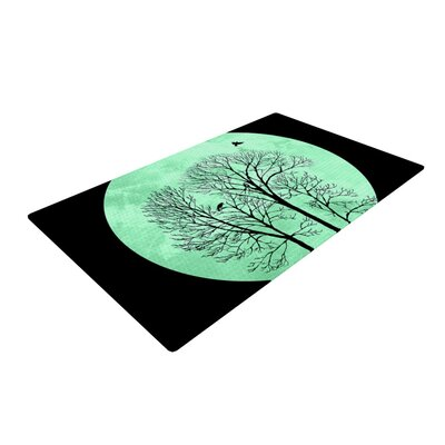Micah Sager Perch Circle Teal Area Rug Rug Size: 2 x 3