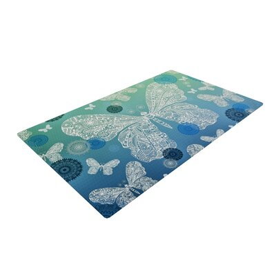 Monika Strigel Butterfly Dreams Ocean Blue/Green Area Rug Rug Size: 4 x 6