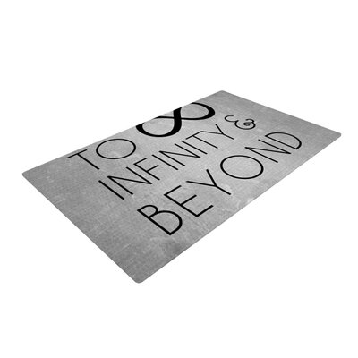 To Infinity & Beyond Gray/Black Area Rug Rug Size: 4 x 6