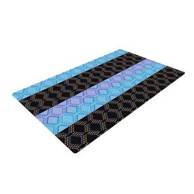 Nina May Denin Diamond Blue/Black Area Rug Rug Size: 4' x 6'