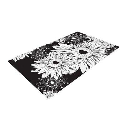 Laura Escalante Midnight Floral Sunflower Black Area Rug Rug Size: 2 x 3