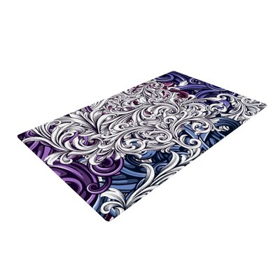 Nick Atkinson Celtic Floral I Abstract Purple Area Rug Rug Size: 2 x 3