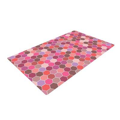 Nandita Singh Tiled Pink Area Rug Rug Size: 4 x 6