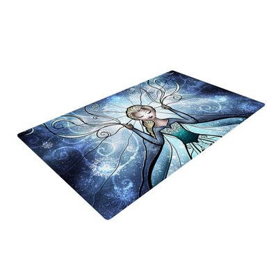 Mandie Manzano The Snow Queen Frozen Blue/White Area Rug Rug Size: 2' x 3'