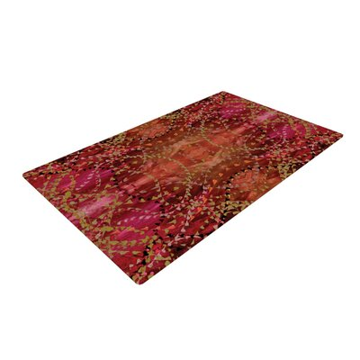 Nikposium Summer Red/Orange Area Rug Rug Size: 2 x 3