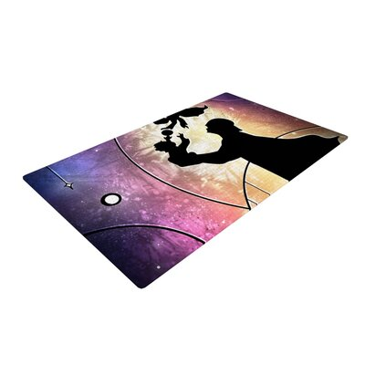 Mandie Manzano Fathers Day Star Wars Purple/Black Area Rug Rug Size: 4 x 6