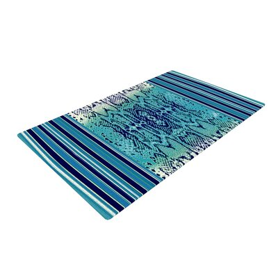 Nina May Snake Blue/Green Area Rug Rug Size: 2' x 3'