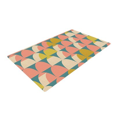 Michelle Drew Scallops Pink/Teal Area Rug Rug Size: 4 x 6