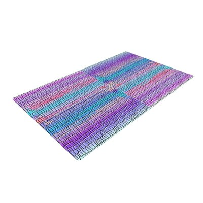 Nina May Drip Dye Strid Abstract Pastel Area Rug Rug Size: 4' x 6'