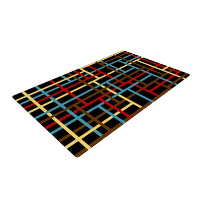 Trebam Veza Modern Lines Black/Blue Area Rug