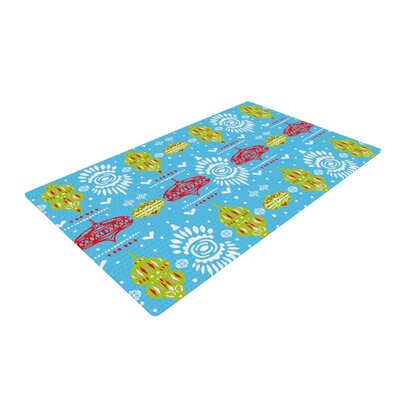 Miranda Mol Deco Row Blue/Yellow/Red Area Rug Rug Size: Rectangle 2 x 3