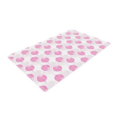 Apple Kaur Designs Wild Dandelions Pink/Gray Area Rug