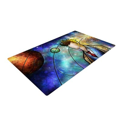 Mandie Manzano The 10th Space Blue Area Rug Rug Size: 2 x 3
