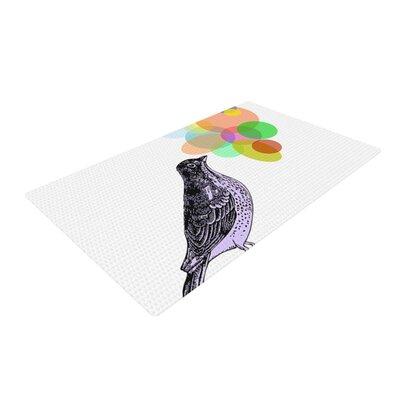 Sreetama Ray Candy Birds Geometry White/Black Area Rug