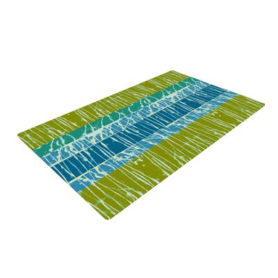 Nina May Ocean Splatter Blue/Green Area Rug Rug Size: 2' x 3'