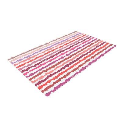 Nandita Singh Stripes Pink Area Rug Rug Size: 2 x 3