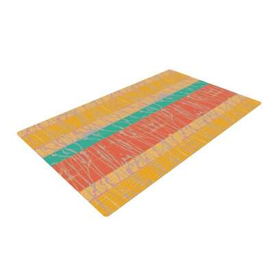 Nina May Desert Splatter Orange/Gold Area Rug Rug Size: 4 x 6